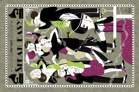 cocktailgirls fabric by gaiamarfurt on Spoonflower - custom fabric