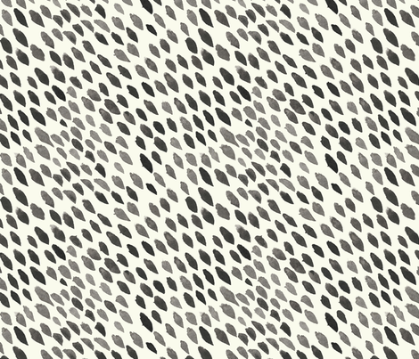 WATERCOLOR DOTS I BLACK AND CREAM fabric by hlively on Spoonflower - custom fabric