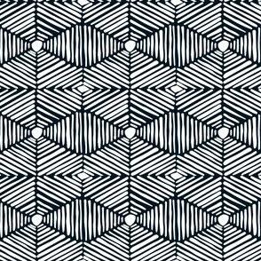 Black and White Tribal Box Stripes