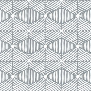 Grey and White Tribal Box Stripes