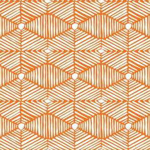 Orange and White Tribal Box Stripes