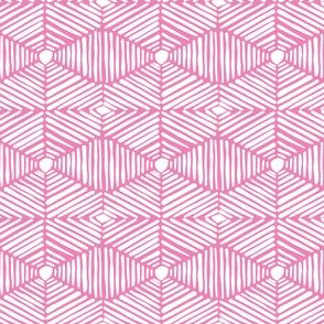 Pink and White Tribal Box Stripes