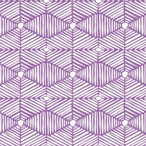 Purple and White Tribal Box