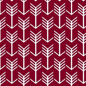 Arrows Garnet Dark Wine Red and White