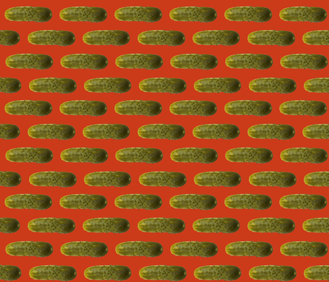 Pickles on Red fabric by sufficiency on Spoonflower - custom fabric