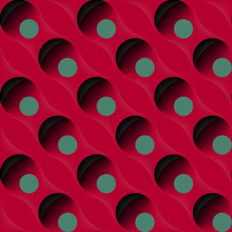 Dot Eclipse (Red) fabric by david_kent_collections on Spoonflower - custom fabric