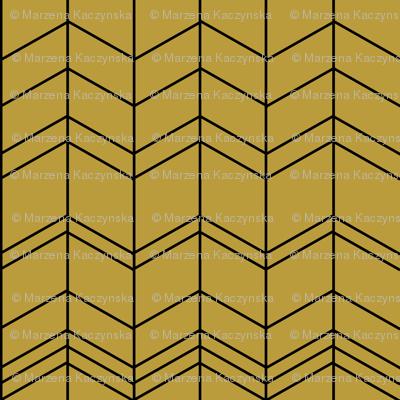 Mustard arrows, zigzags, modern chevron,