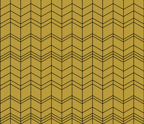 Mustard arrows, zigzags, modern chevron,  fabric by sunny_afternoon on Spoonflower - custom fabric