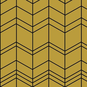 Mustard arrows, zigzags, modern chevron,