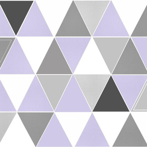 Lavender Hamptons Triangles