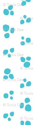 Petite Snow Dots // White Snow + Blue  // Cozy Christmas Coordinate