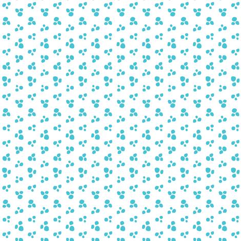 Petite Snow Dots // White Snow + Blue  // Cozy Christmas Coordinate fabric by tonia_dee on Spoonflower - custom fabric