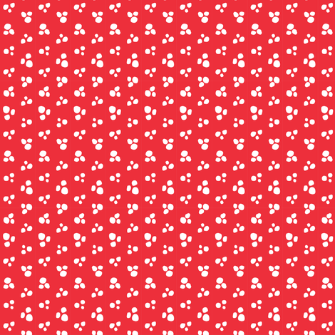 Petite Snow Dots // Red Holly + White // Cozy Christmas Coordinate - holiday Christmas winter snow dots fabric by tonia_dee on Spoonflower - custom fabric