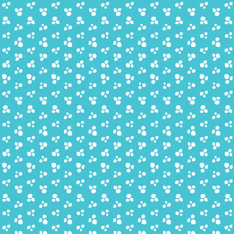 Petite Snow Dots // Blue Frost + White // Cozy Christmas Coordinate - winter holiday snow fabric by tonia_dee on Spoonflower - custom fabric