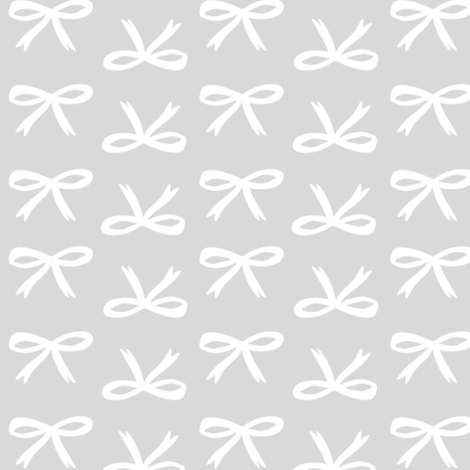 Christmas Bows // Silver & White //  Cozy Christmas Coordinate - winter holiday nursery fabric by tonia_dee on Spoonflower - custom fabric