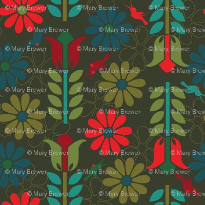 Flowers and Hummingbirds