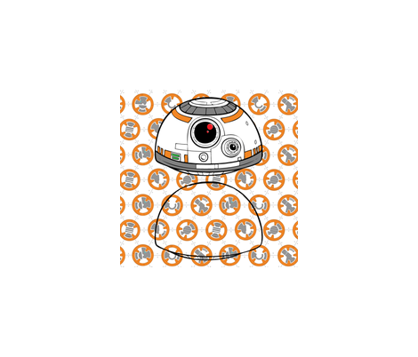 StarWars BB8 Head Cutout Template fabric by sewguppieboutique on Spoonflower - custom fabric