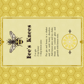The Bee's Knees Tea Towel