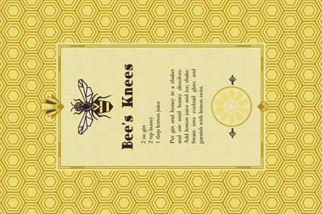 The Bee's Knees Tea Towel fabric by lellobird on Spoonflower - custom fabric