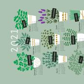 Herbs tea towel calendar 2021 (light)