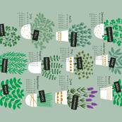 Herbs tea towel calendar 2017 (light)