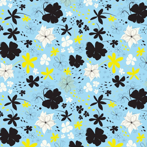 Spring flowers | Black Blue