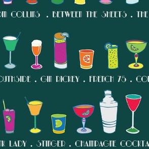 Line 'em up! - Speakeasy Cocktails on Teal