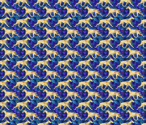 Cosmic trotting Doberman Pinscher - night fabric by rusticcorgi on Spoonflower - custom fabric