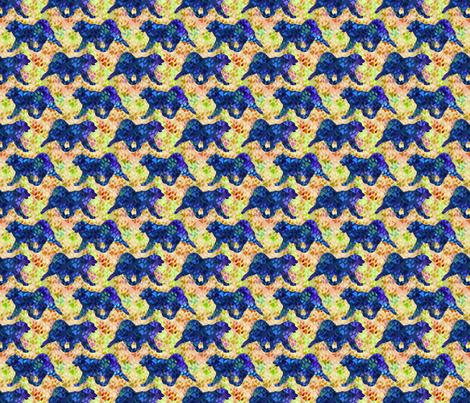 Cosmic trotting Samoyed - day fabric by rusticcorgi on Spoonflower - custom fabric