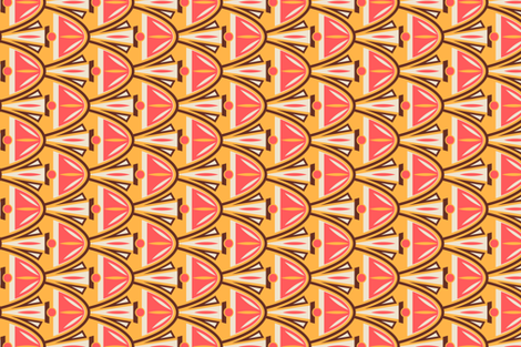 Coral_Cocktail fabric by lauraflorencedesign on Spoonflower - custom fabric