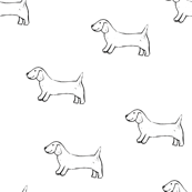 Linocut Sausage Dogs