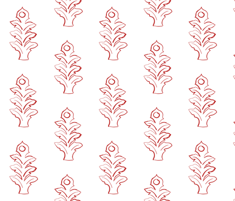 Leaf Cherry fabric by arboreal on Spoonflower - custom fabric