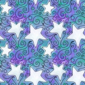 Project 96 | Stars | Purple Teal White