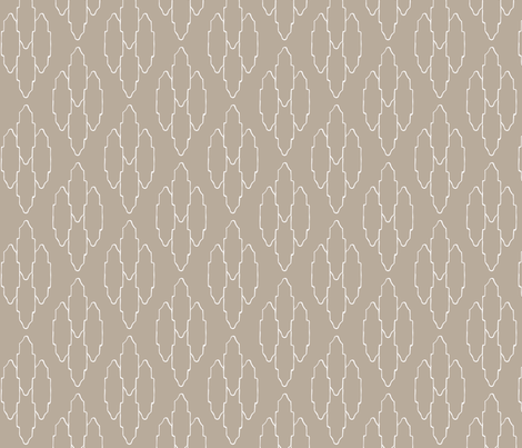Vintage taupe fabric by arboreal on Spoonflower - custom fabric