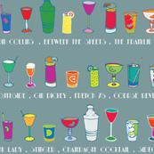 Line 'em up! - Speakeasy Cocktails on Dove Grey