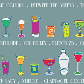 Line 'em up! - Speakeasy Cocktails on Dove Grey