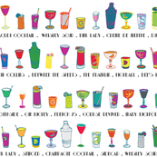 Line 'em up! - Speakeasy Cocktails on White