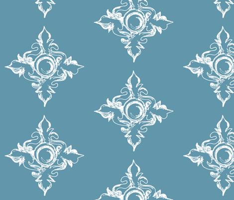Medallion cerulean fabric by arboreal on Spoonflower - custom fabric
