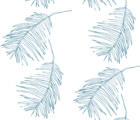 Palm cerulean fabric by arboreal on Spoonflower - custom fabric