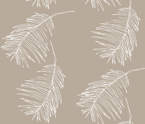Palm taupe fabric by arboreal on Spoonflower - custom fabric