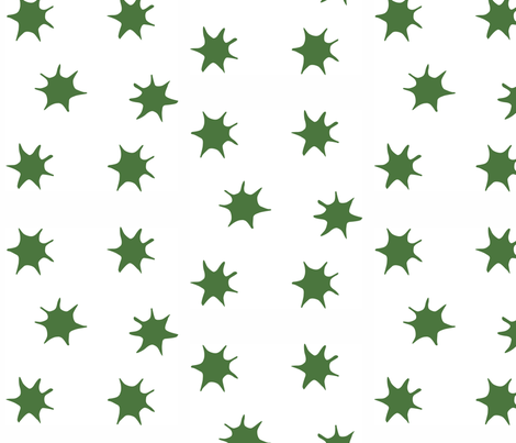Star emerald fabric by arboreal on Spoonflower - custom fabric