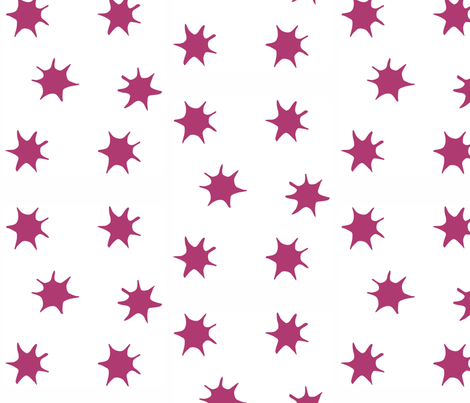 Star magenta fabric by arboreal on Spoonflower - custom fabric