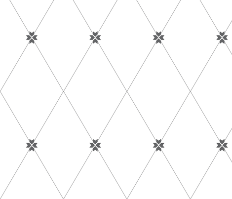 Trellis Charcoal fabric by arboreal on Spoonflower - custom fabric
