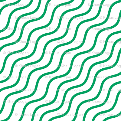 Green Wave Stripes