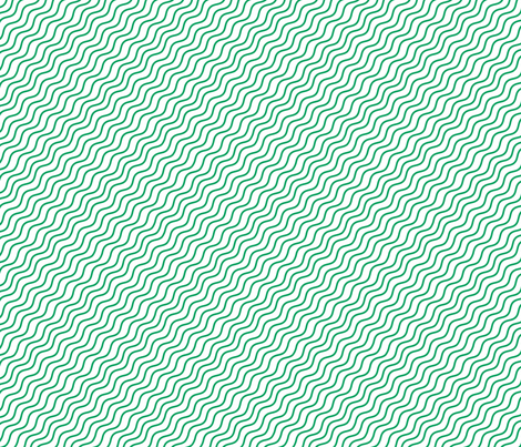 Green Wave Stripes fabric by khaus on Spoonflower - custom fabric