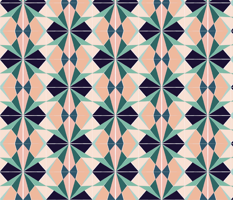 Southwest Argyle fabric by kgburns747 on Spoonflower - custom fabric