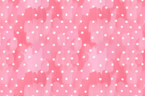 Painted Garden- Polkadot Dress fabric by cynthiafrenette on Spoonflower - custom fabric