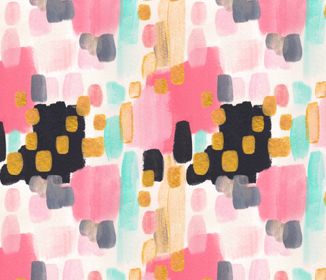 Painted Garden- Vintage Party Dress fabric by cynthiafrenette on Spoonflower - custom fabric