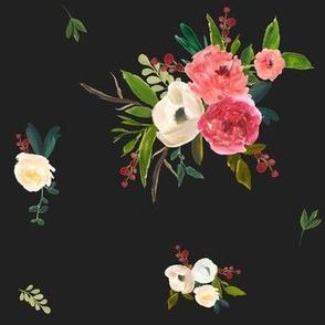 Winter Breeze Florals in Black