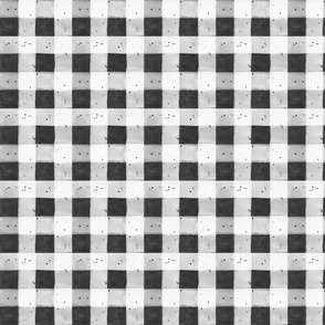 WATERCOLOR GINGHAM BLACK AND WHITE